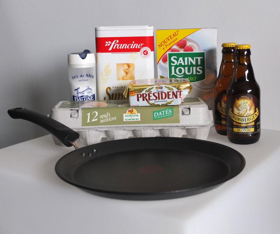 recette crêpes à la bière