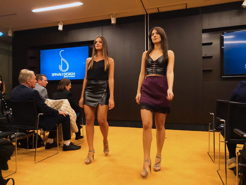 Spinali Design défilé 2018 Cuir & Robe