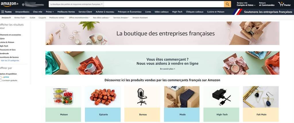 amazon boutique france