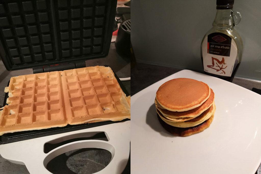 des gaufres devenues pancakes